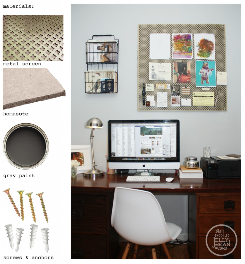 DIY Quatrefoil Bulletin Board