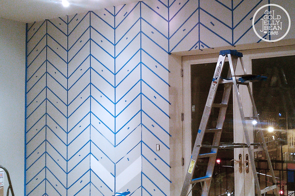 gallery for wall painting designs with tape