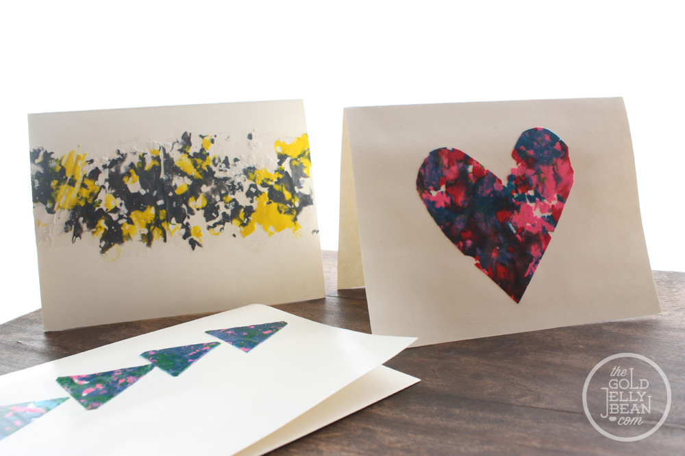 DIY Melted Crayon Cards For Mothers Day The Gold Jellybean