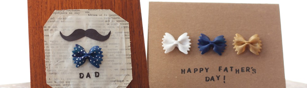 DIY Fathers Day Cards with Bow Tie Pasta The Gold Jellybean