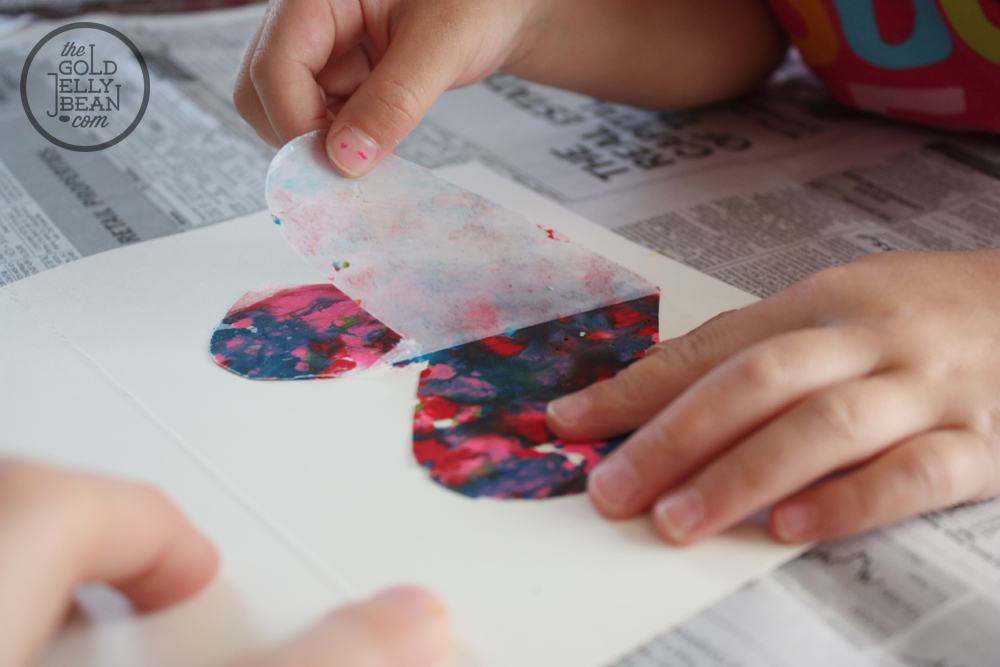 DIY Melted Crayon Cards for Mother's Day | The Gold Jellybean