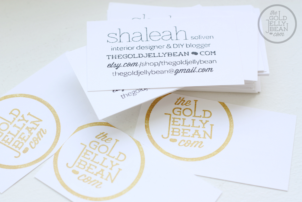 DIY Stamped Business Cards | The Gold Jellybean