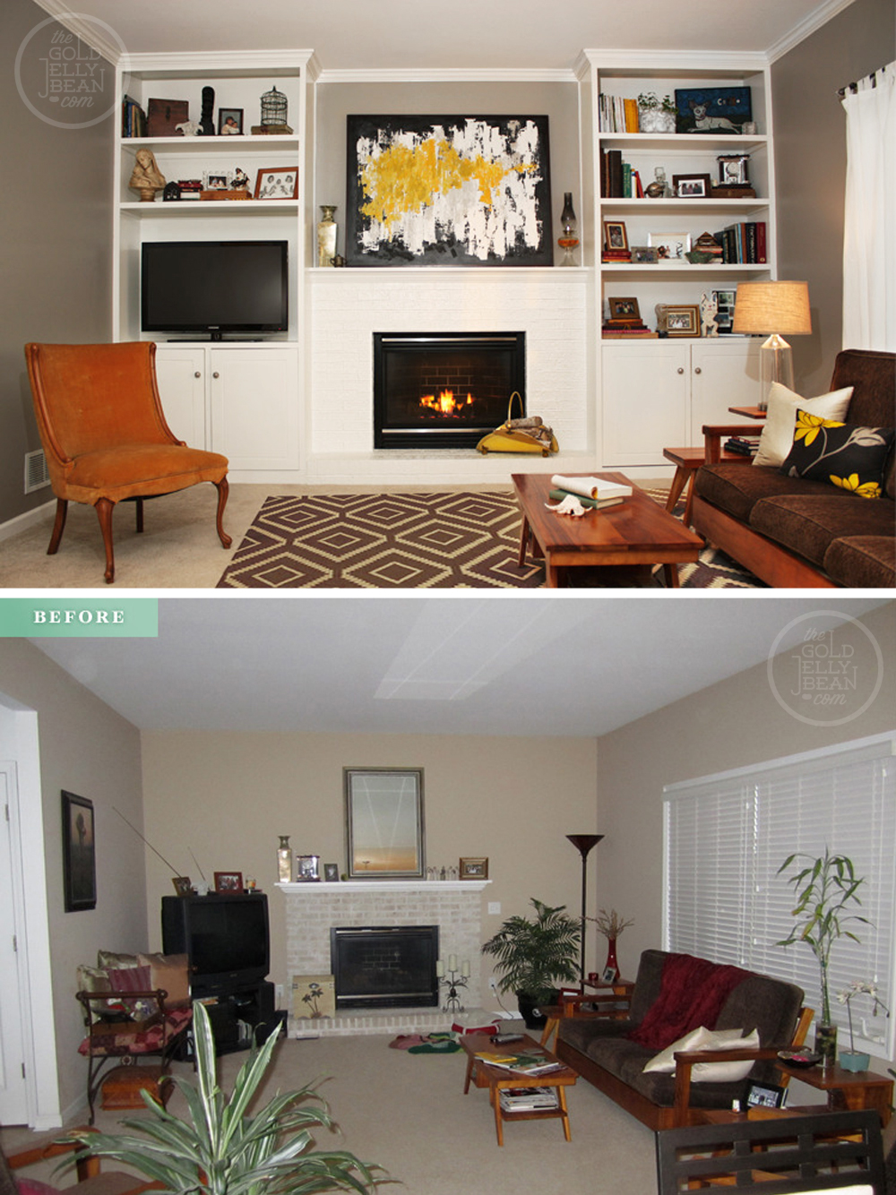 Tuesday Tips : Living Room Makeover On a Budget | The Gold Jellybean