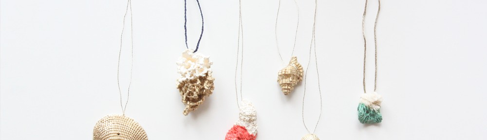 Paint Dipped Shell & Coral Jewelry