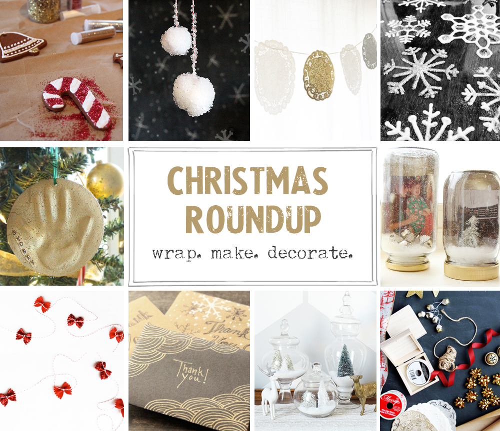 Christmas Roundup, wrap, make, create, via www.thegoldjellybean.com