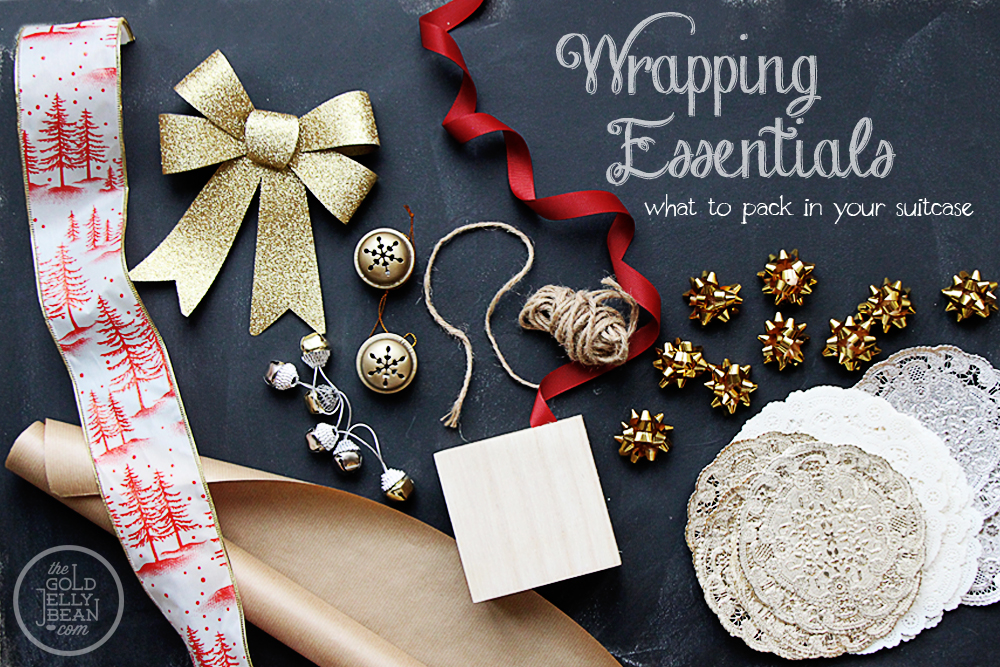 Creative Gift Wrapping, Essentials to Pack in Your Suitcase, via www.thegoldjellybean.com