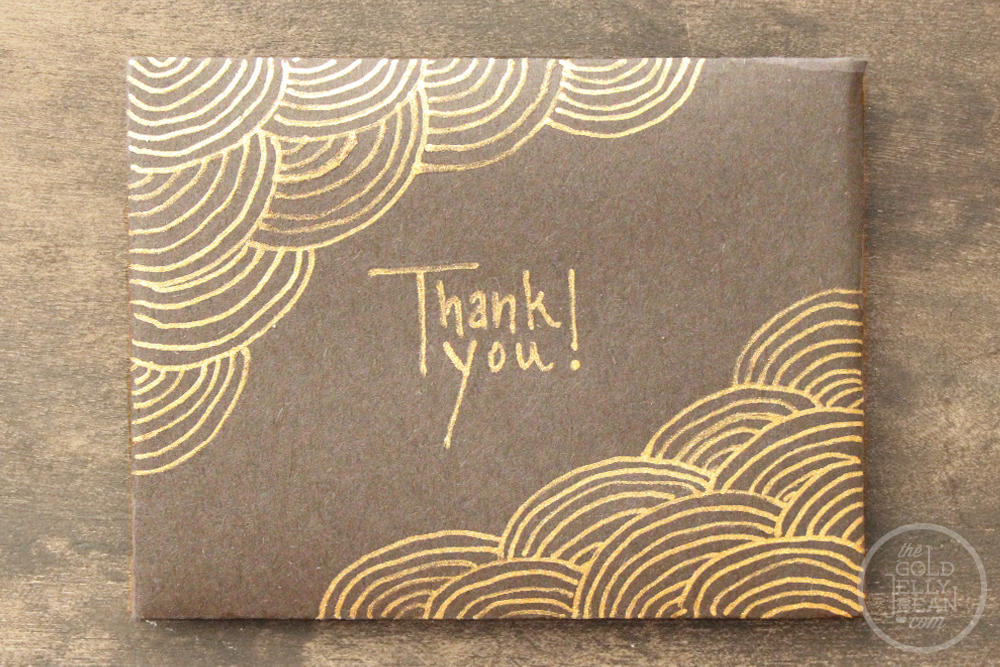 Creative christmas wrapping personalizing gift cards the gold all negle Choice Image