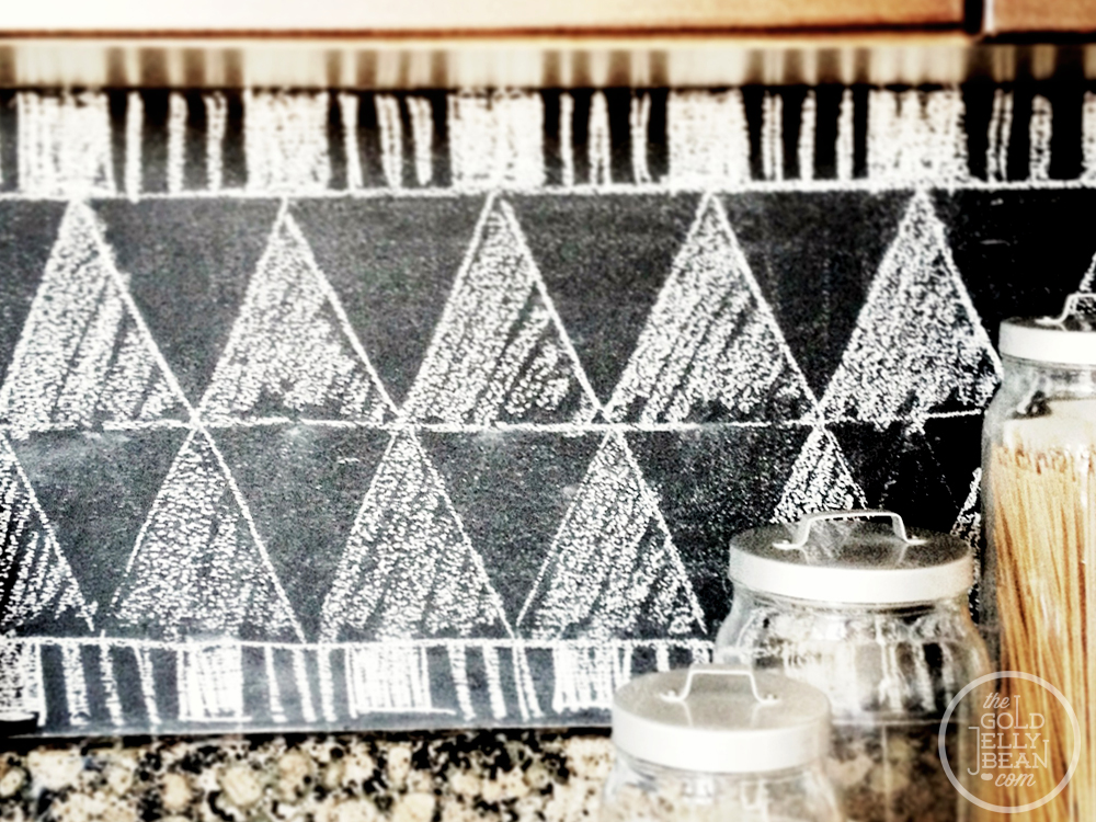 Chalkboard Backsplash Pattern, via The Gold Jellybean