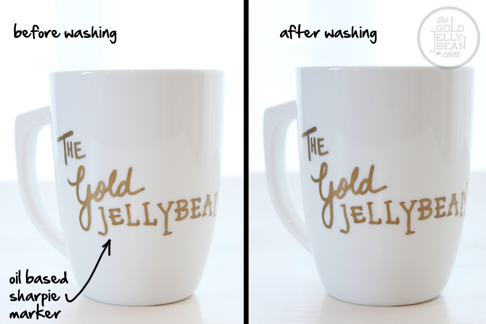 DIY Sharpie Mugs Tested, via The Gold Jellybean