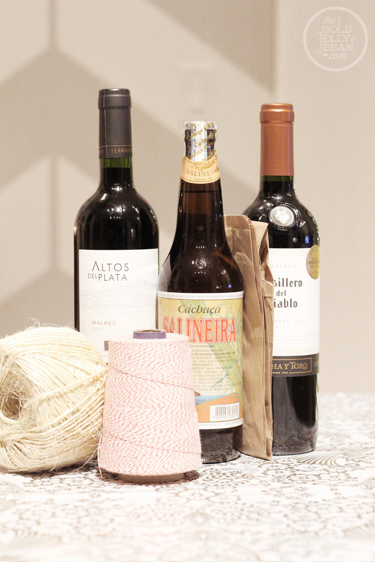 Easy Thank You Gift Bags for Wine