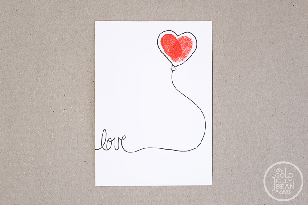 DIY Fingerprint Valentines, via www.thegoldjellybean.com
