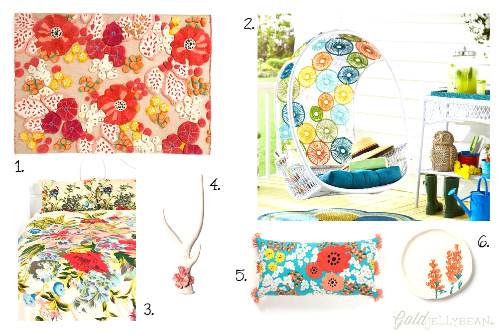 Spring Florals for the Home, The Gold Jellybean