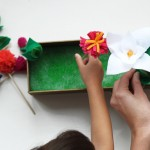 Spring Flower Box Craft for Kids, via www.thegoldjellybean.com