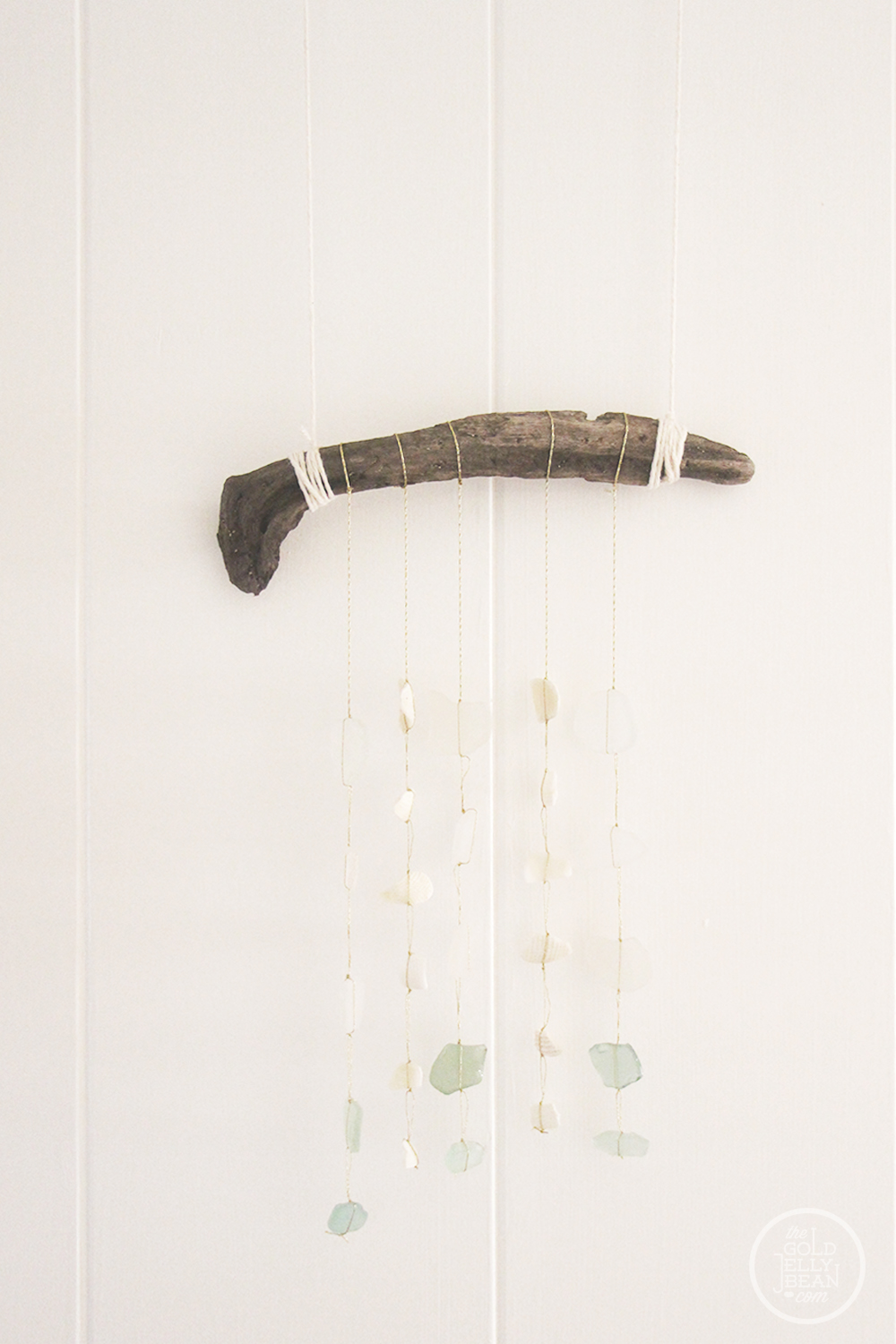 Beach Glass Mobile DIY